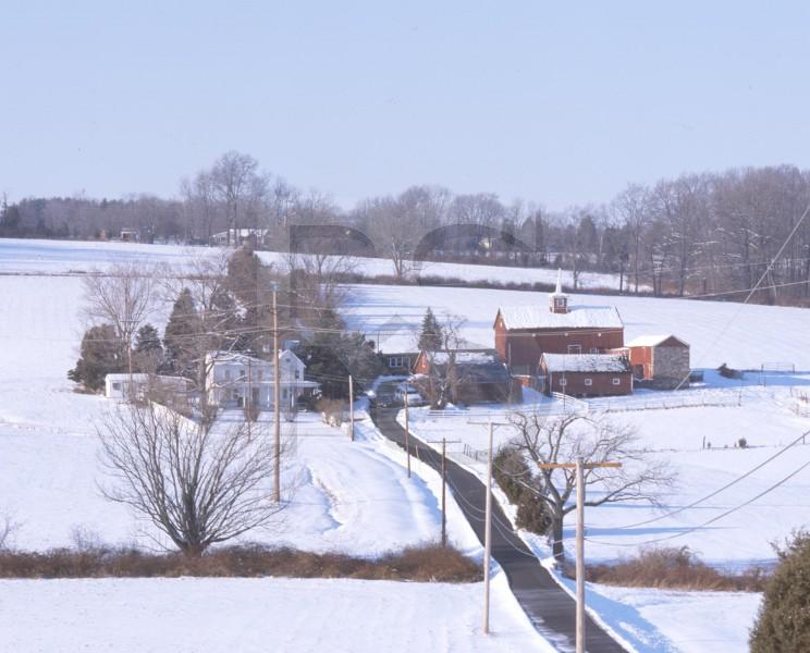 Farm In Snow