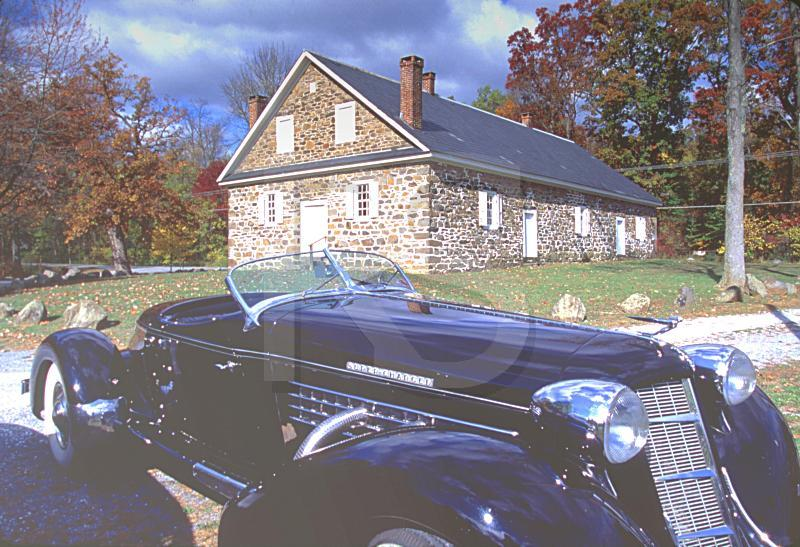 Warrington Friends Meetinghouse and Roadster