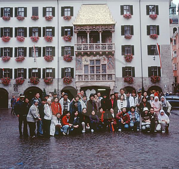 The Golden Roof And Japanese Tourists