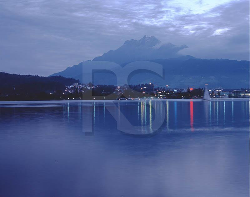 Lake Lucerne At Night