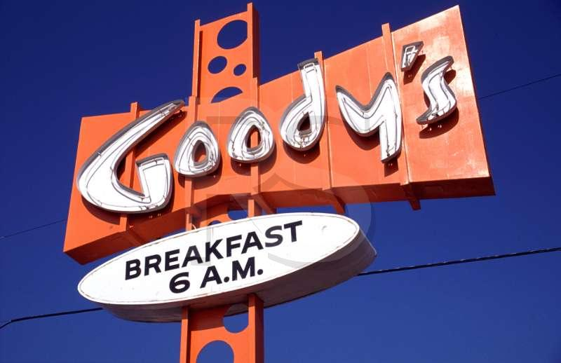 Goody's Coffee Shop, Sign