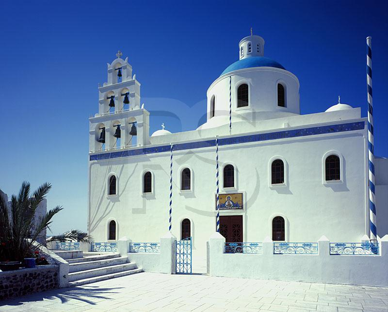Oia Greek Orthodox Church In Main Square