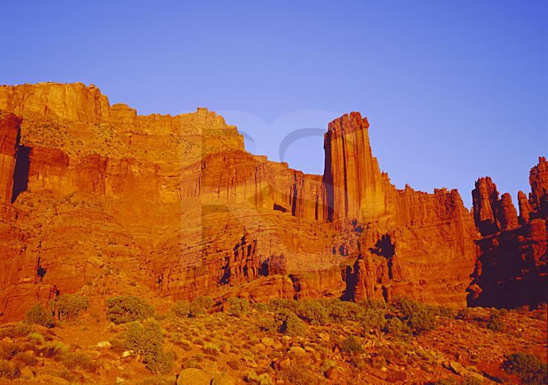 Fisher Towers, At Sunset