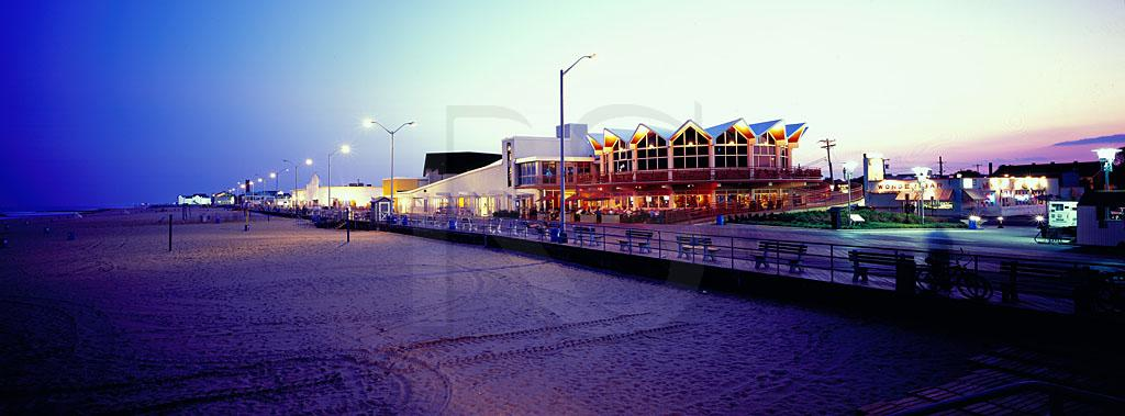 Beach And Boardwalk At Twilight