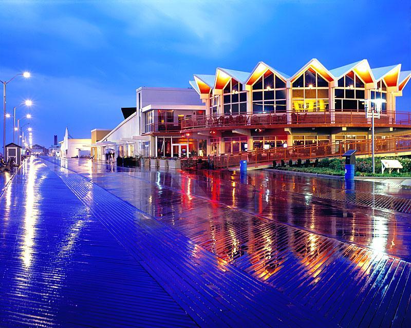Asbury park boardwalk in the rain for Johnson s farm nj