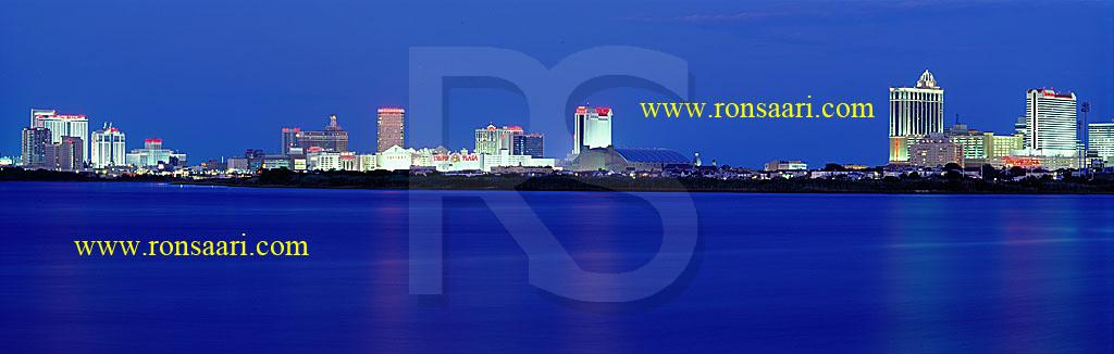Atlantic City Skyline Panoramic 3