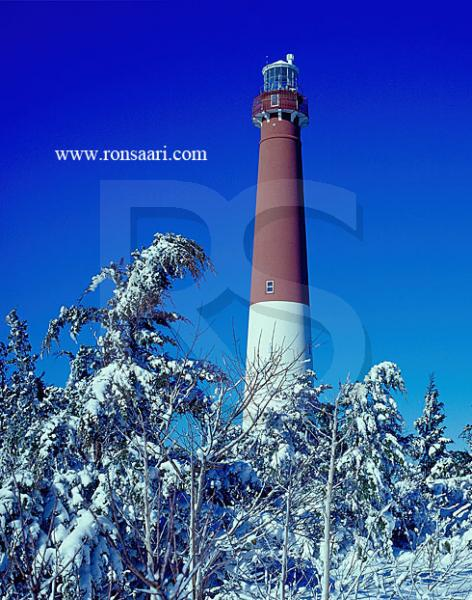 Barnegat Light In Winter 2