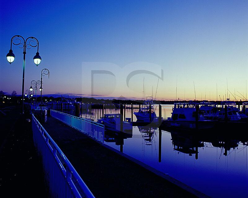 Belmar Marina At Dusk