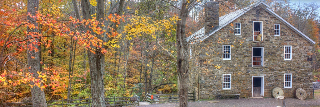 Cooper Mill In Autumn Panoramic