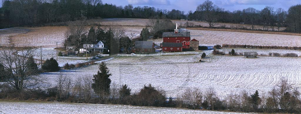 Delaware Township Farm in Winter, Panoramic