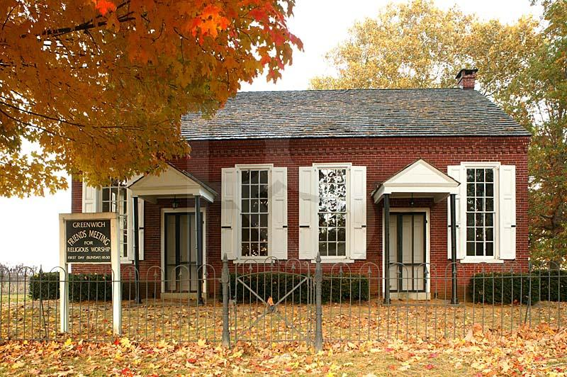 Greenwich Hicksite Friends Meetinghouse, In Autum