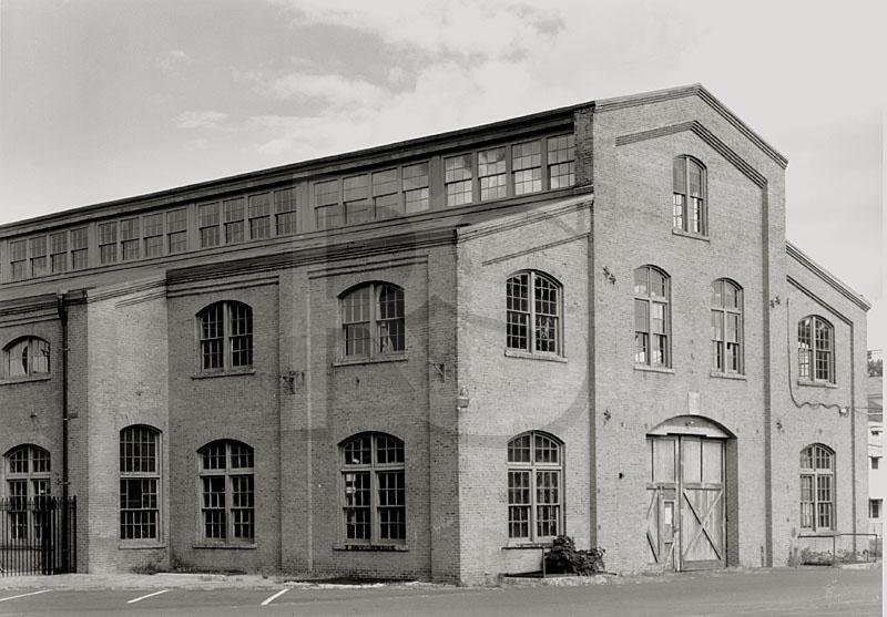 Invention Factory, Roebling Works, Black & White