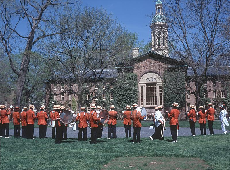 Nassau Hall And Marching Band, Princeton University