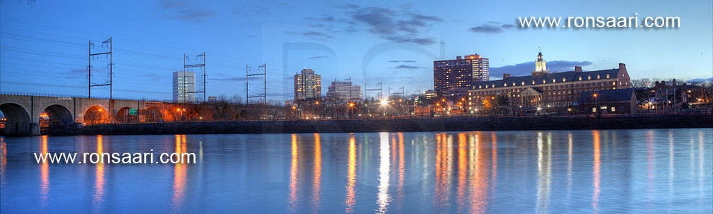 New Brunswick Skyline And Raritan River Viaduct Panoramic