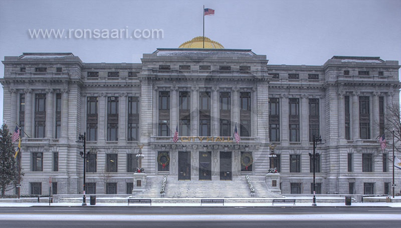 Newark City Hall In Winter