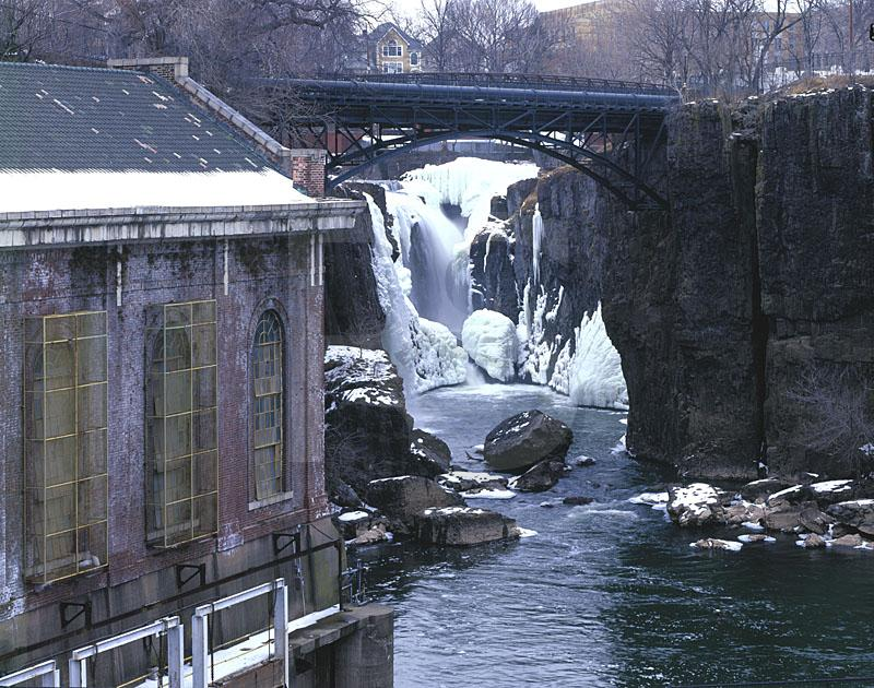 Great Falls of the Passaic River, Frozen In Winter