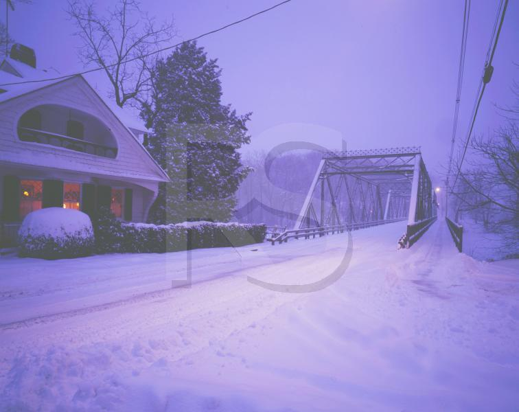 Peddie Lake Bridge, In Snowstorm 2