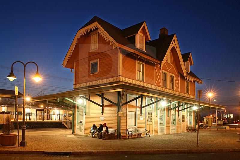 Red Bank Train Station At Dusk