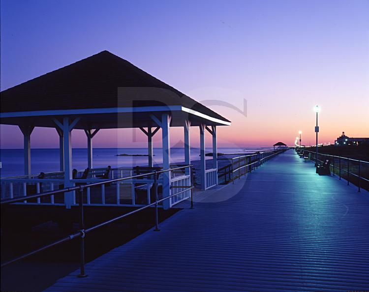 Spring Lake Boardwalk and Gazebos, At Dusk