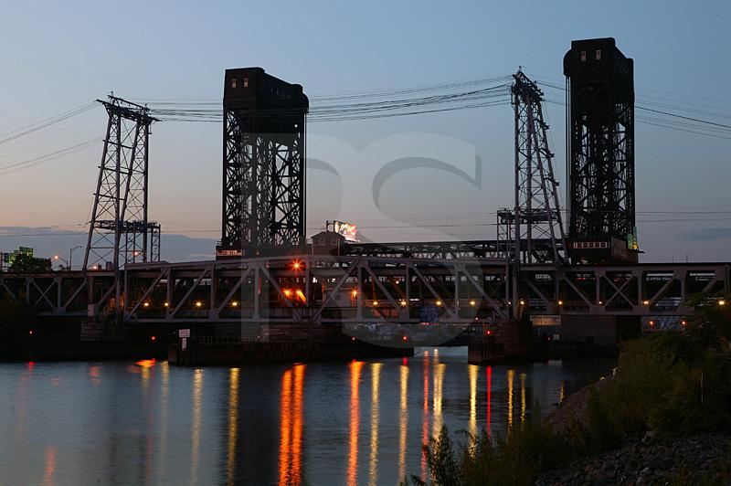 William Stickel Memorial Bridge And NJ Transit Railroad Bridge