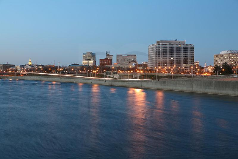 Trenton Skyline At Dusk