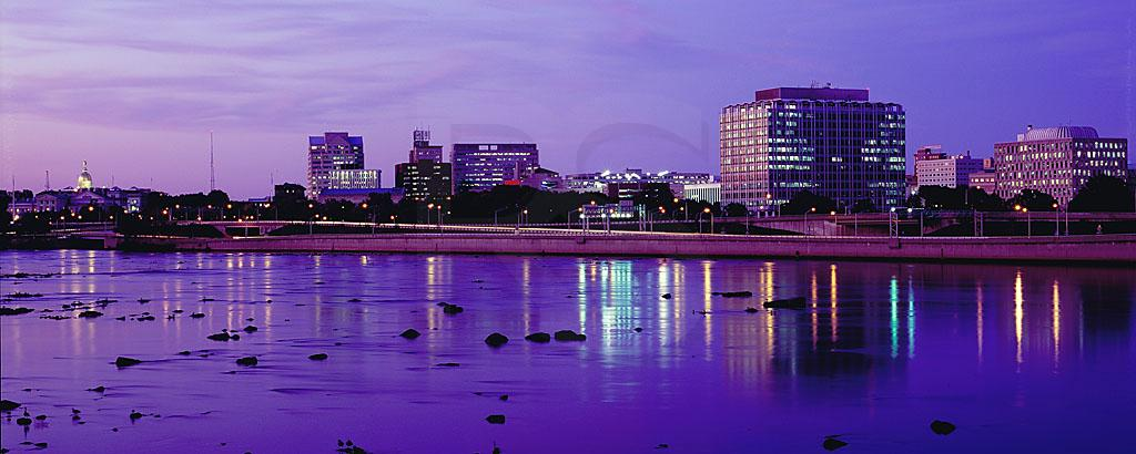 Trenton Skyline At Dusk, Panoramic 2