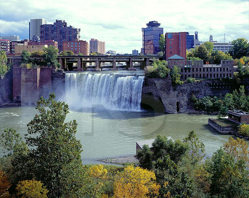 High Falls and Rochester Skyline