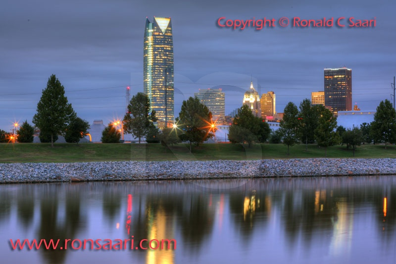 Oklahoma CIty Skyline At Dusk 1