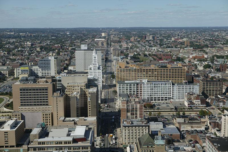 Broad Street North Aerial View