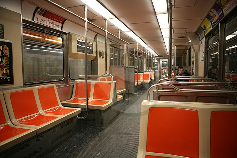 Broad Street Subway Car Interior