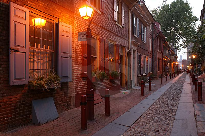 Elfreth's Alley At Twilight 2