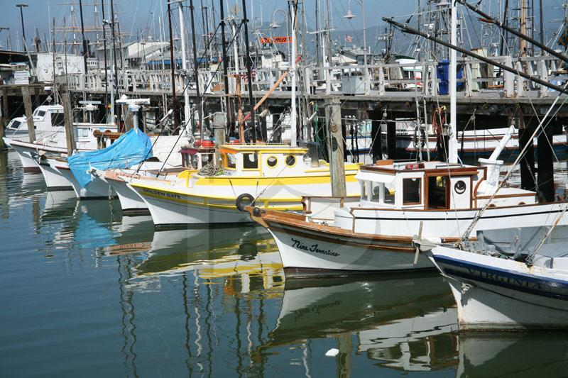 Boats and Reflections, Fisherman's Wharf