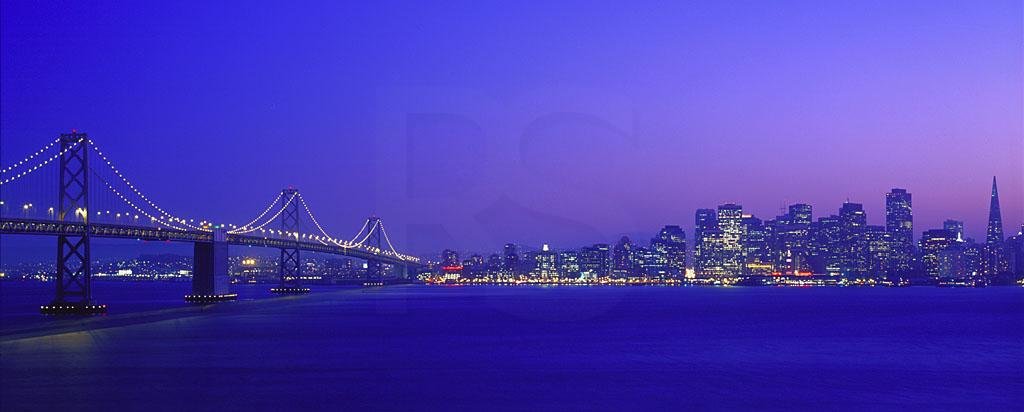 San Francisco Skyline At Dusk, Panoramic