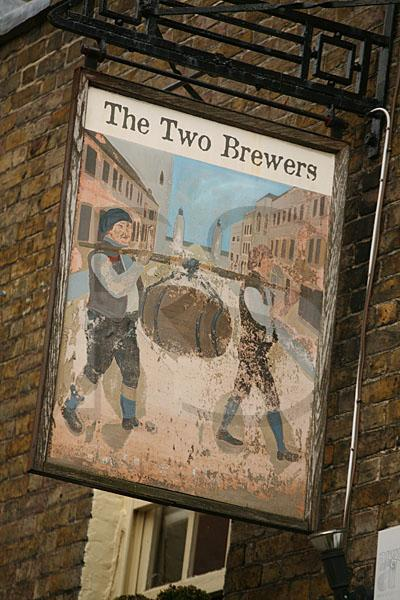 The Two Brewers Pub Sign